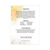 Joyful 8-Sided Graduated Funeral Program Template back cover