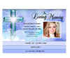 Adoration 8-Sided Graduated Funeral Program Template inside view