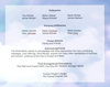 Adoration 8-Sided Graduated Funeral Program Template inside view back cover
