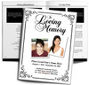 Cadence Large Tabloid Funeral Booklet Template