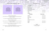 Lilac DIY Large Tabloid Funeral Booklet Template inside view