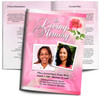 Petals DIY Large Tabloid Funeral Booklet Template