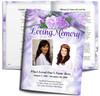 Rapture DIY Large Tabloid Funeral Booklet Template