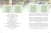 Serene DIY Large Tabloid Funeral Booklet Template inside view