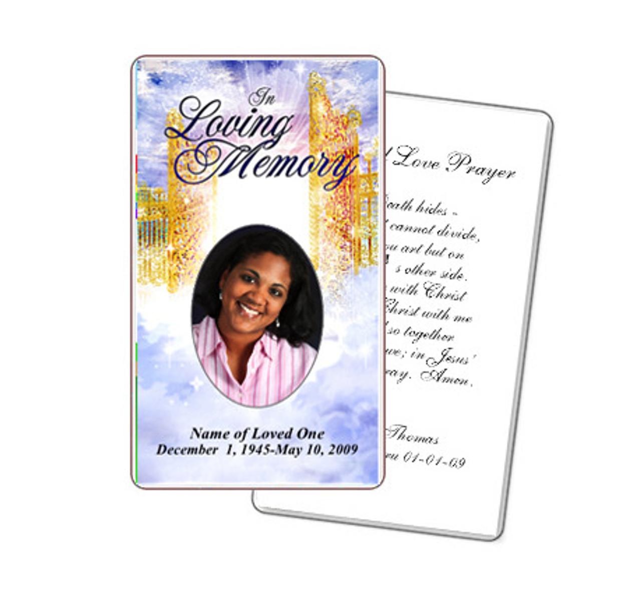 Pathway Diy Prayer Card Template Memorial Prayer Cards