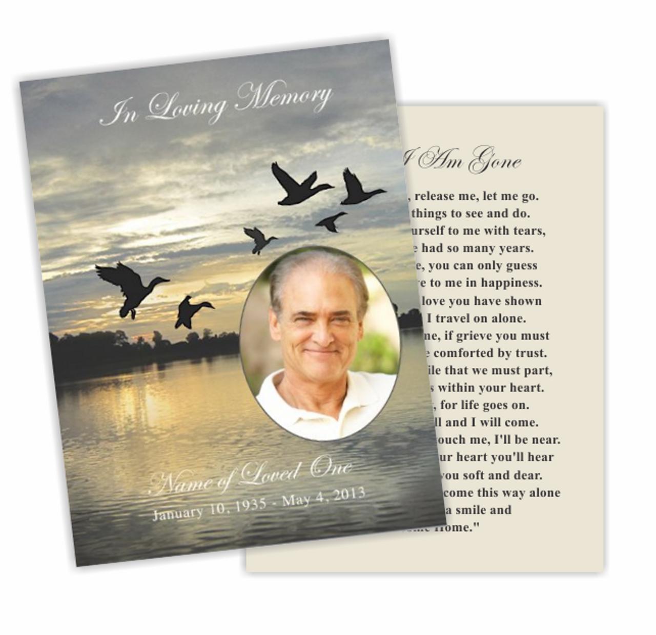 Flight Flat Memorial Card Template With Memorial Card Template Word