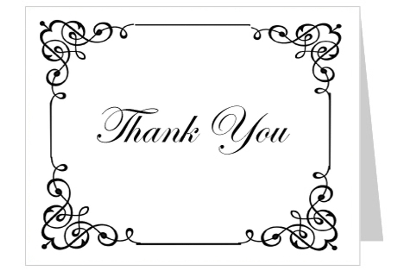 Cadence Funeral Thank You Card Template | Thank You Cards