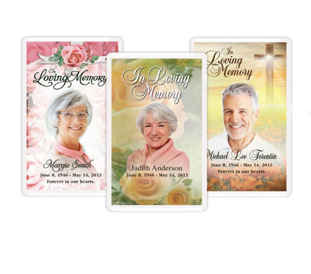 Custom Funeral Prayer Card Template Funeral Templates