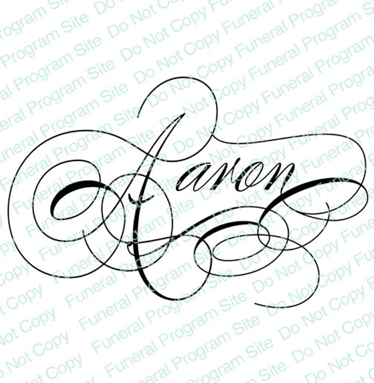 Aaron Word Art Name Design