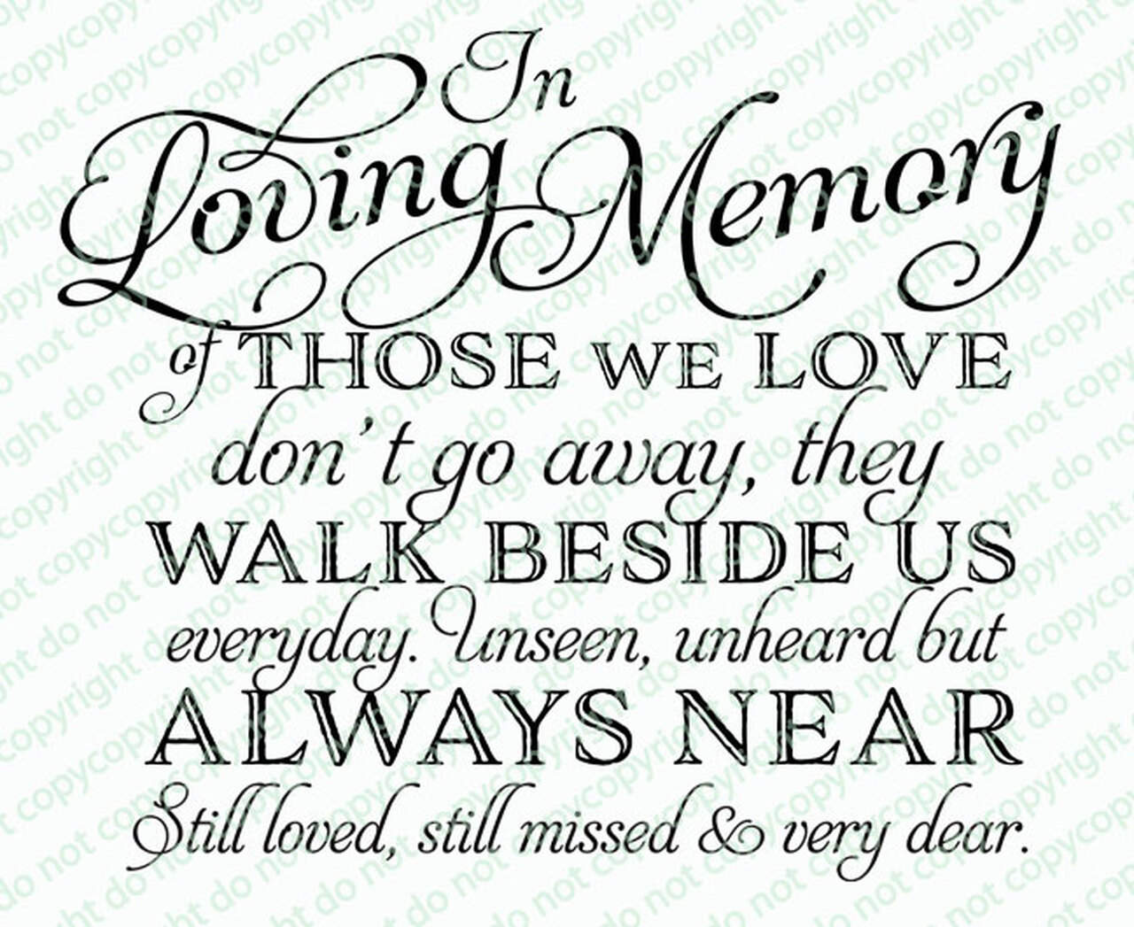 Of Those We Love Funeral Quotes Word Art Design