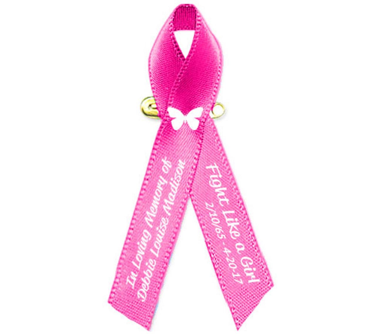 """24 PINK RIBBON AWARENESS PINS button pin 2/"""" Breast Cancer Awareness October NICE"""