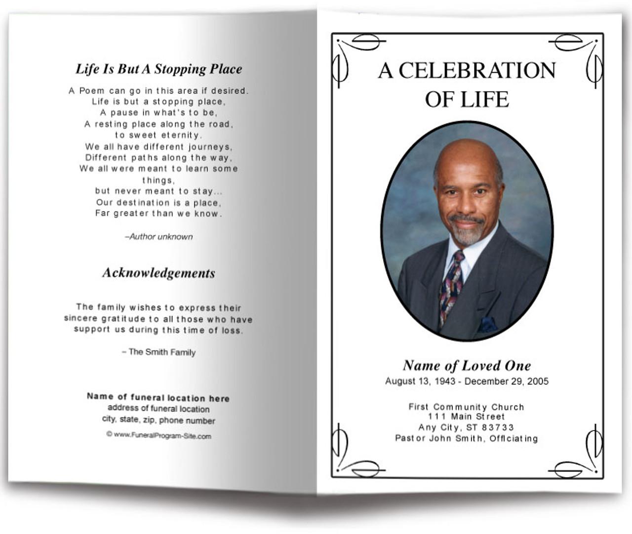 Simple Funeral Program Template