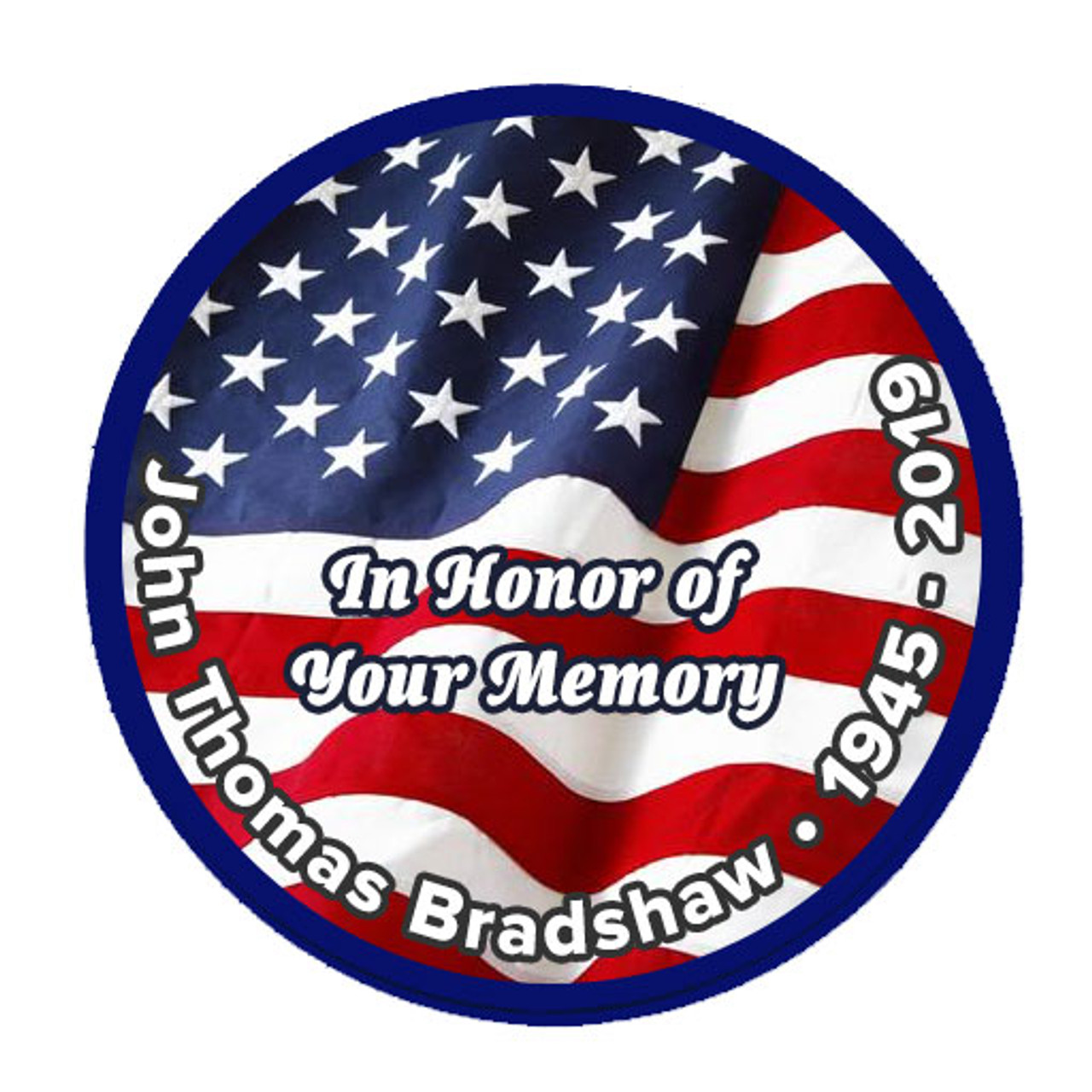 Support Our Troops Round Memorial Patch Patriotic Patches