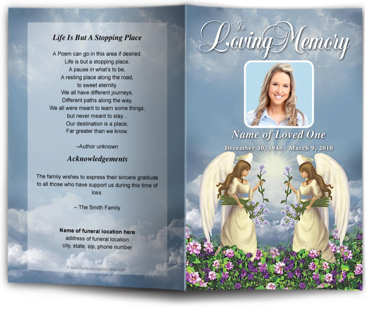 morningstar funeral program template diy funeral programs