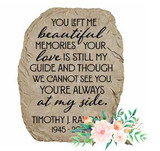 Memorial Garden Stone With Personalized Memorial Quote