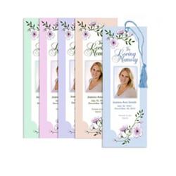 Custom Laminated Bookmarks For Memorials