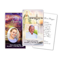 Funeral Prayer Card Template For Word