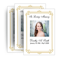Funeral Program Borders and Frame Designs