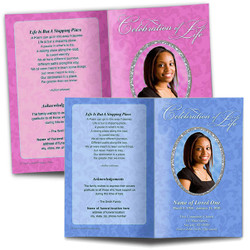 Template With Changeable Funeral Backgrounds