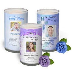 Glass Cylinder Memorial Candles In Loving Memory