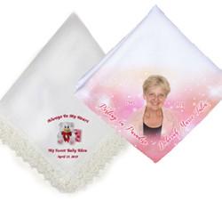 Colorful Memorial Handkerchiefs In Loving Memory