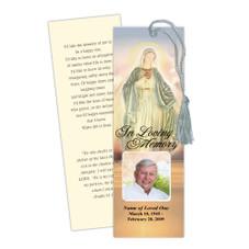Vision Memorial Bookmark Template