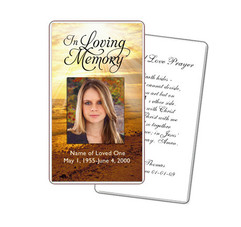 Funeral Prayer Cards And Download Diy Templates
