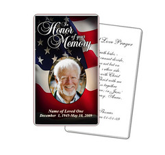 US Flag Prayer Card Template