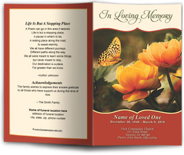 Funeral Program Design Contemporary Programs