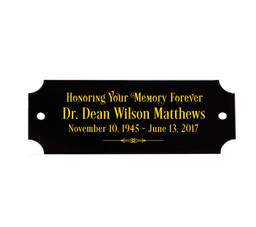 Engraved Name Plates For Urns, Memorials, Vaults