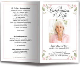 funeral program designs memorial program design