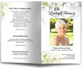 diy download funeral pamphlet with floral designs