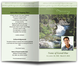 Diy Download Funeral Templates With Outdoor Theme