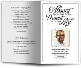 Simple Funeral Program Template Funeral Programs