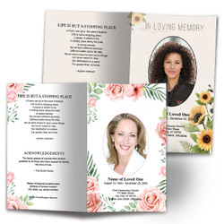 Funeral Pamphlets With Floral Designs