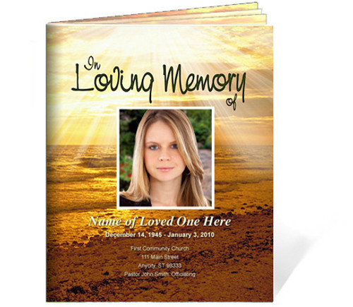 Shine Funeral Booklet Template (Legal Size)