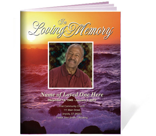 Twilight Funeral Booklet Template (Legal Size)