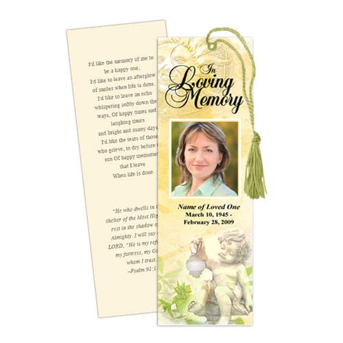 Cherub Memorial Bookmark Template
