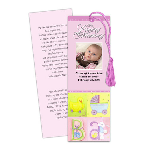 Darling DIY Funeral Memorial Bookmark Template