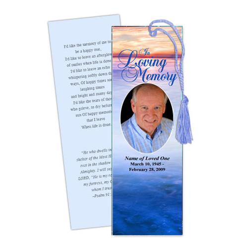 Dusk DIY Funeral Memorial Bookmark Template