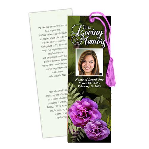 Essence DIY Funeral Memorial Bookmark Template