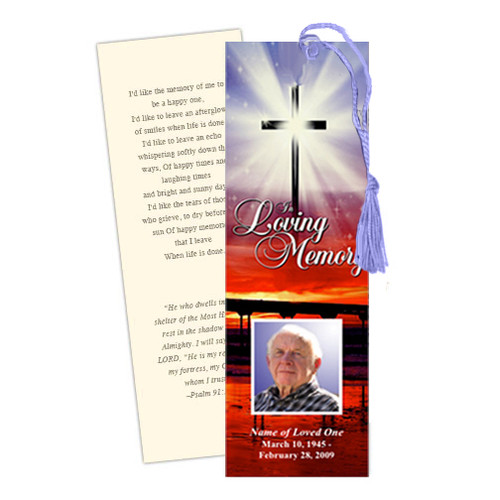 Glorify DIY Funeral Memorial Bookmark Template