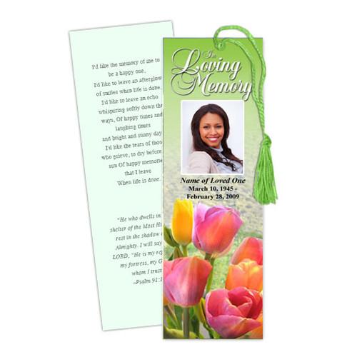 Harvest DIY Funeral Memorial Bookmark Template
