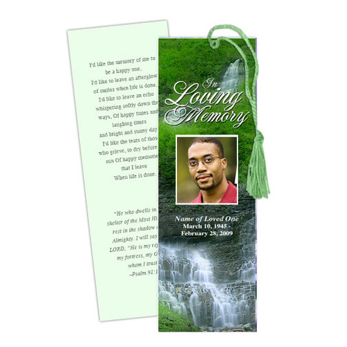 Majestic DIY Funeral Memorial Bookmark Template