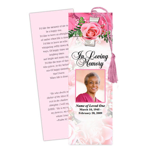 Precious DIY Funeral Memorial Bookmark Template