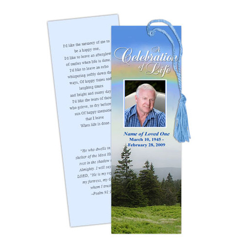 Promise DIY Funeral Memorial Bookmark Template