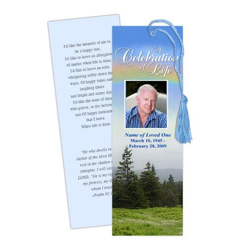Promise DIY Funeral Memorial Bookmark Template