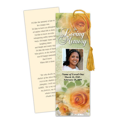 Rejoice DIY Funeral Memorial Bookmark Template