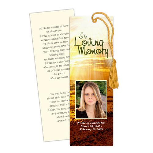 Shine DIY Funeral Memorial Bookmark Template