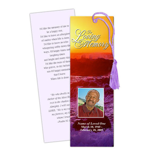 Twilight Memorial Bookmark Template